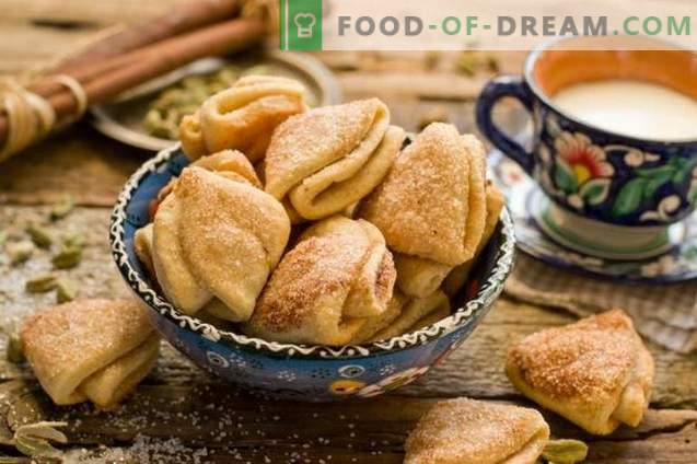 Cottage cheese cookies with cardamom and cinnamon