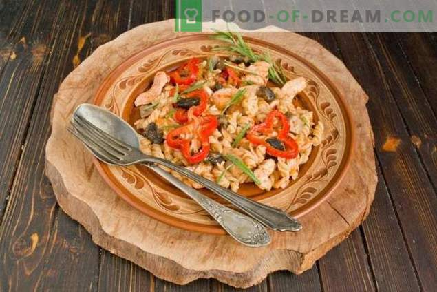 Chicken and Mushroom Pasta - Affordable Classics of Italian Cuisine