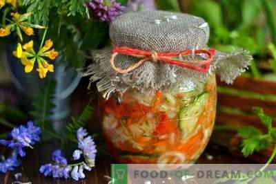 Cabbage salad for the winter with cucumbers and tomatoes