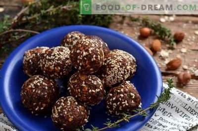 Lenten sweets with nuts and granola