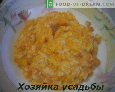 How to cook pumpkin porridge in milk, step-by-step recipe with a photo