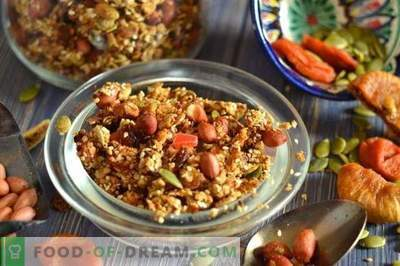 Homemade muesli with your own hands