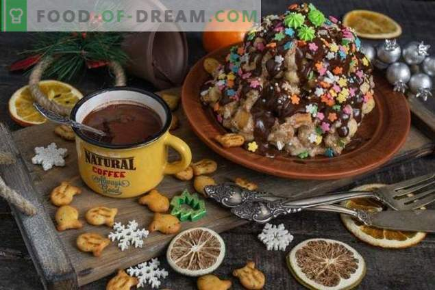 """Quick cake """"Anthill"""" without baking"""