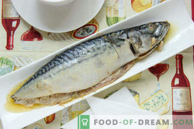 Mackerel baked in the oven in foil with sour cream, step by step recipe