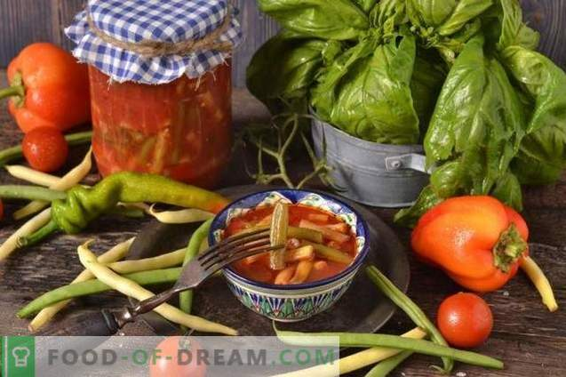 String beans in tomato for the winter