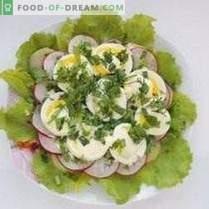 Spring layered salad