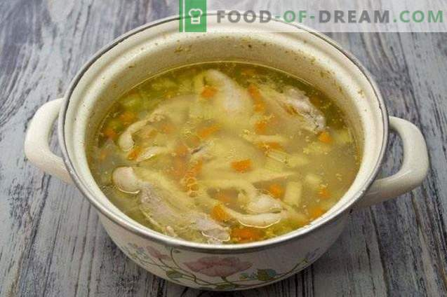 Chicken Soup with Vegetables and Pasta