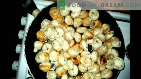 How to fry dumplings in a pan, boiled, frozen