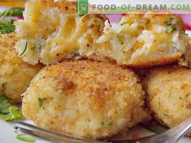Celery cutlets with rice