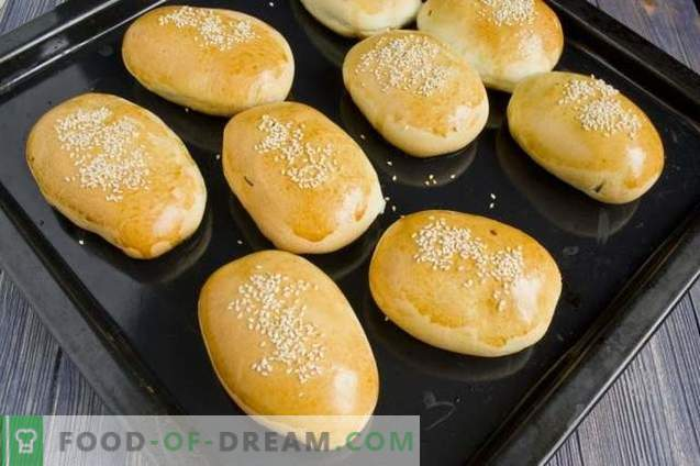 Patties with rice and egg in the oven
