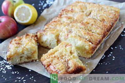 Apple pie with lemon jam, recipe in the oven
