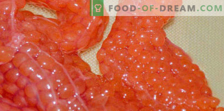 How to pickle red caviar at home properly and tasty