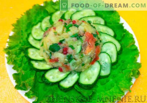 Hungarian salad with ham