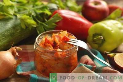 Vegetable stew with apples for the winter - unusual and very tasty