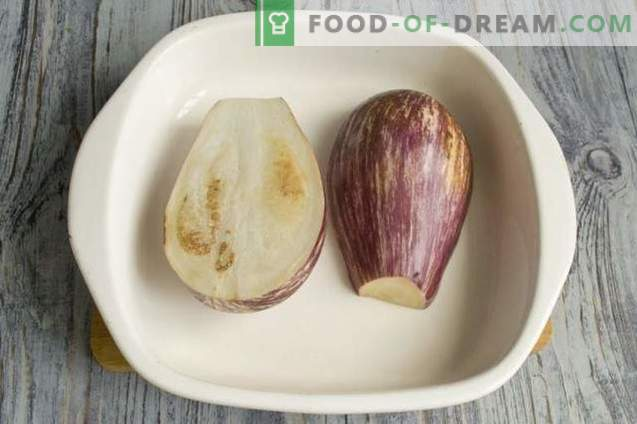 Eggplant stuffed with rice and chicken
