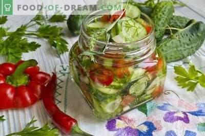Gurķu salāti ar papriku ziemai