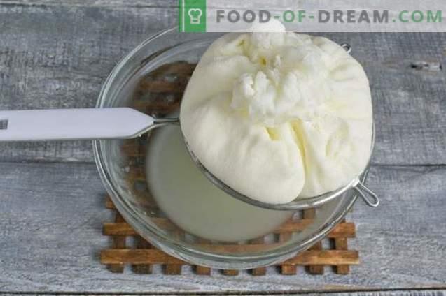 Homemade kefir and milk cheese
