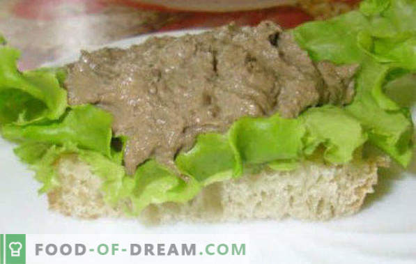 Chicken liver pate at home, recipes for winter, with cream, butter, brandy