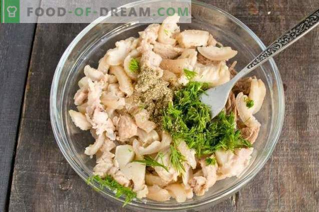 Delicious pork jelly with fennel and greens