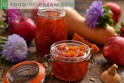 Apple jam with pumpkin - the sweet taste of autumn