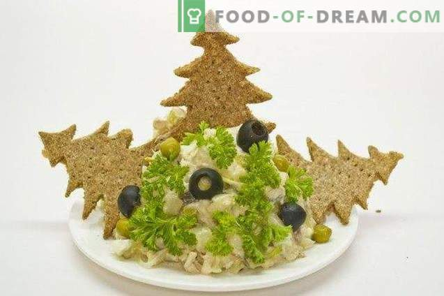 Fish salad with celery and rye flour biscuits