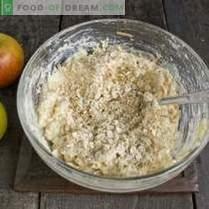 Pasteles de queso dietético con manzanas