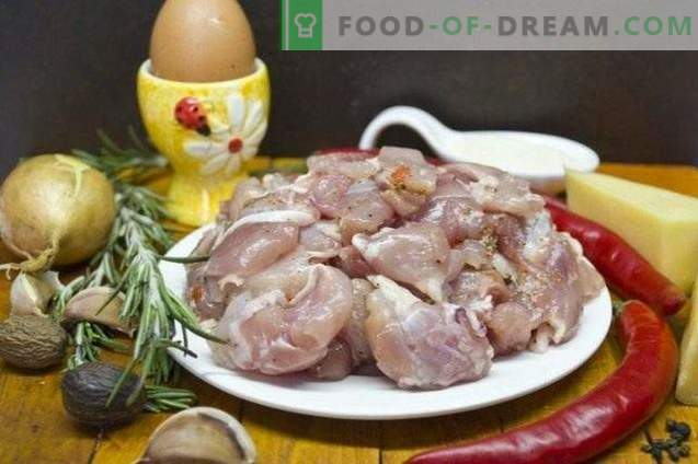 Boiled turkey sausage with rosemary and cheese