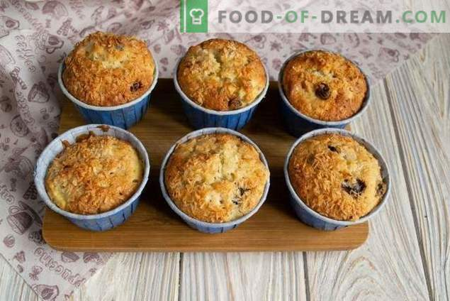Simple muffins with pears and nuts