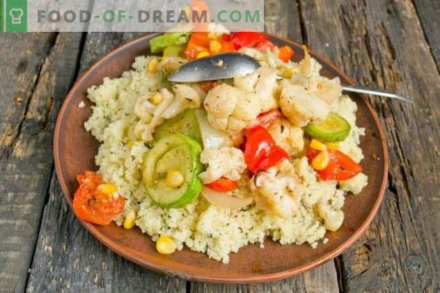 Moroccan Baked Vegetables with Couscous