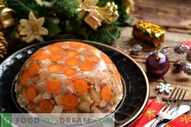 Jellied pork with gelatin