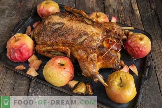 Duck with apples