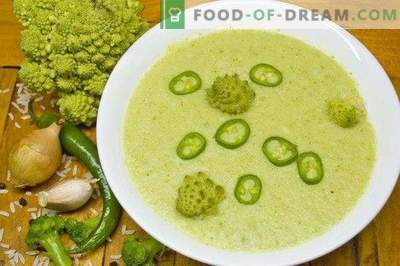 Lean broccoli and romanesco cream soup