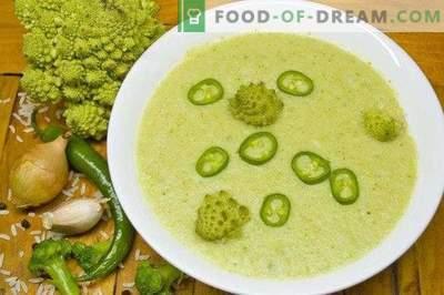 Lean broccoli and romanesco cream soup