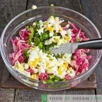 Spring radish salad with egg and mayonnaise