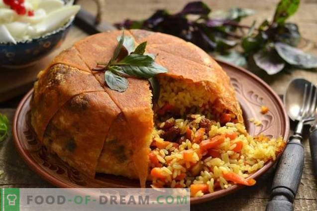 Shakh-pilaf in pita bread - consuming for the holiday