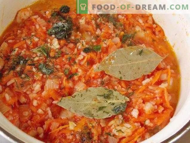Lenten cabbage rolls with vegetables
