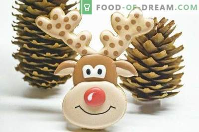 "New Year's cookies ""Deer Rudolph"""