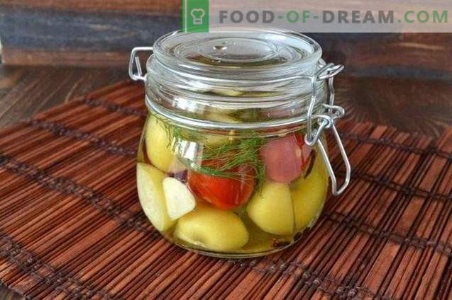 Marinated Physalis with Cherry and Garlic