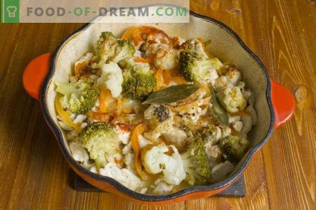 Broccoli stew with chicken