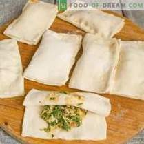 Puffs with spinach, egg and cheese