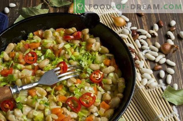Vegetable stew with beans