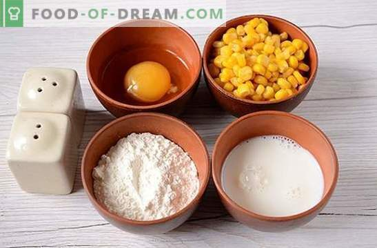 Fritters with corn: use canned corn from cans! Author's step-by-step photo recipe for pancakes with corn on kefir