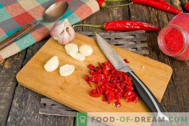 Tomato ketchup at home for winter