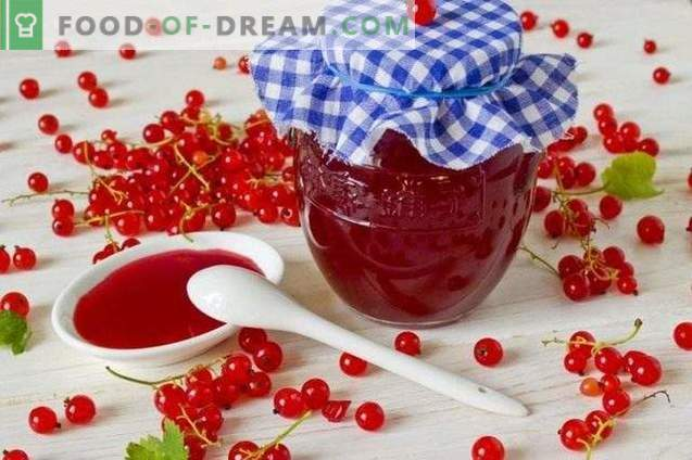 Red currant jelly for winter