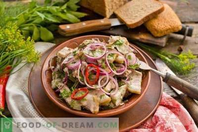 Rustic Meat Salad Marinated Herbs