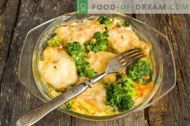 Delicious pollock with vegetables in the oven