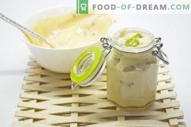 Homemade mayonnaise from quail eggs