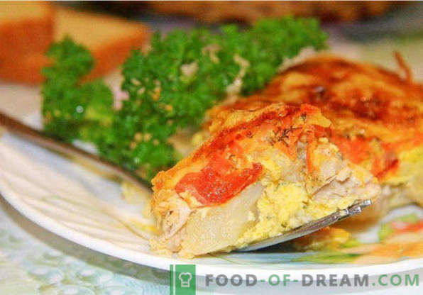 Cauliflower casserole in the oven, recipes with cheese, egg, chicken, minced meat, zucchini