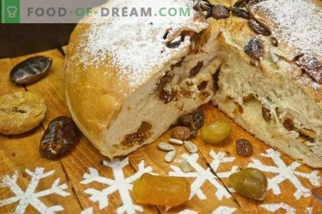 Süßes Weihnachtsbrot mit Kumquat und Feigen