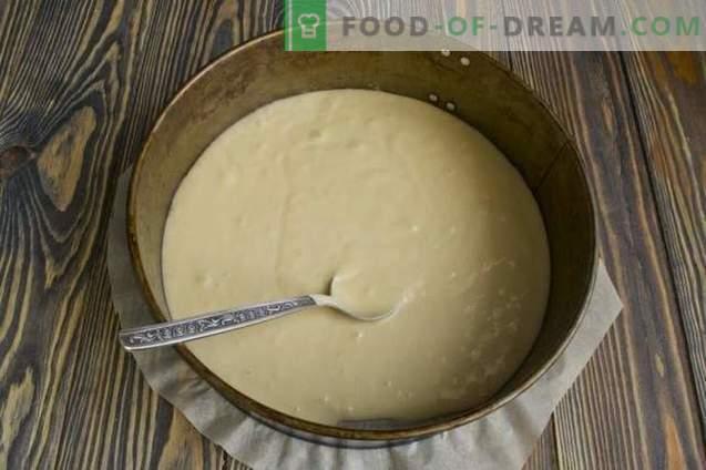 Homemade sponge cake with semolina cream